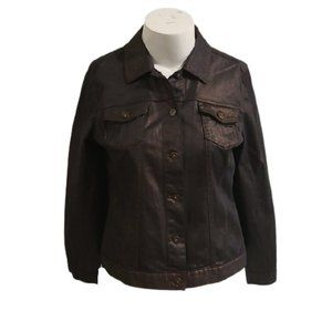 [Chico's] Bronze Button Down Jacket- Size 2
